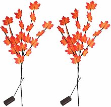 Maple Leave Lighted Branches Warmwhite 20 LEDs