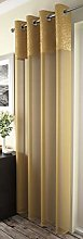 Maple Textile 1 x Ochre Mustard Gold Eyelet Voile