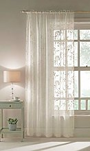 Maple Textile Ivory Champagne Sheer Voile Panel