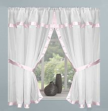 Maple Textile White Sheer Voile Net Curtain Window