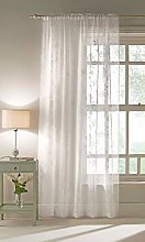 Maple Textile White Sheer Voile Panel With