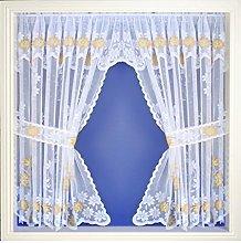 Maple Textiles Daisy Marigold Net Curtain Window