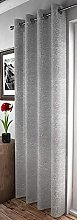 Maple Textiles Elegant Shimmery Silver Grey Voile