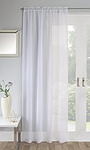 Maple Textiles Sparkle Jewel Sheer Linen Look