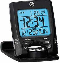 MARATHON CL030023BK Travel Alarm Clock with