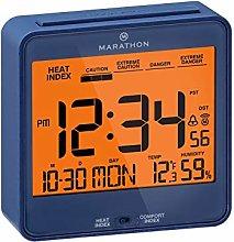 Marathon CL030054BL Atomic Desk Clock, with