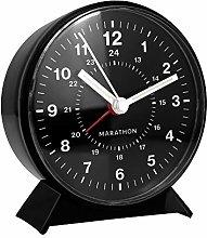 MARATHON CL034001BK Mechanical Wind-Up Alarm Clock