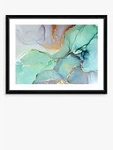 Marble 1 - Framed Print & Mount, 66 x 86cm, Green