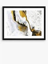 Marble 2 - Framed Print & Mount, 66 x 86cm, White