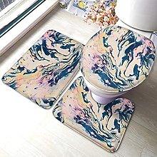 Marble Bathmat,Abstract Marble Watercolor Art