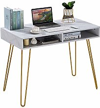 Marble Glass Computer Desk Table on Workstation PC