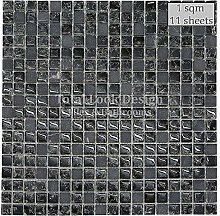 Marble & Glass Mosaic Tiles Sheet for Walls and