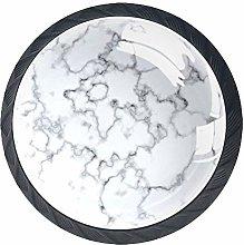 Marble Pattern Black Crystal Door Knobs Glass
