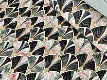 Marble Pink Fan Bow Art Deco Nouveau Geometric