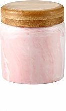Marble Pink Food Storage Canister, Ceramic Food