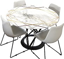Marble Round Tablecloth for Circular Table, Morbuy