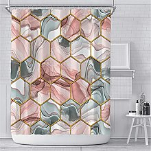 Marble Shower Curtain for Bathroom Modern Luxury