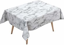 Marble Tablecloth Waterproof with 4 clips, DOTBUY