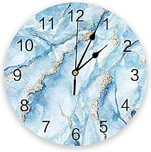 Marble Watercolor Painting Modern Wall Clock For