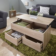 Marcello Storage Coffee Table In Oak With Lift Up