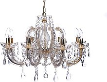 Marco Tielle 8 Light Chandelier in Brass, with