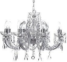 Marco Tielle 8 Light Chandelier in Chrome, with