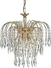 Marco Tielle Fountain 3 Light Crystal Chandelier