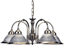 Marco Tielle 8 Light Chandelier in Chrome with Crystal Glass Column Beads /& Droplets with Acrylic Arms