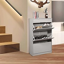 Marcos Grey Shoe Cabinet, 10 Pairs Minimum