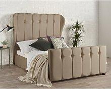 Marcourt Wingback Upholstered Bed Frame Rosalind