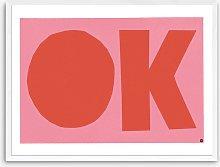 Marcus Walters - OK Framed Print, 63.4 x 83.4cm,