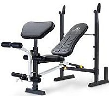 Marcy Folding Standard Weight Bench With Rack