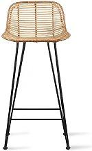 Marey bar stool in natural rattan