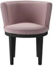 Margaux Dining Chair in Powder Pink Brushed Linen