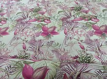 Marie Peony Pink Green Chess Designs Curtain/Craft