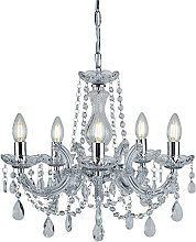 Marie Therese 5 Light Crystal Chandelier Ceiling