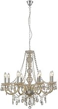 Marie Therese 8 Light Crystal Chandelier Finish: