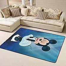Marilyn Mickey Mouse Cartoon Area Rug Floor Rugs