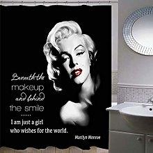 Marilyn Monroe Shower Curtain Bathroom Decor Black