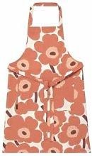 Marimekko - Pieni Unikko Cotton Apron Linen Orange
