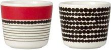 Marimekko - Rasymatto Egg Cups Set of 2 - white,