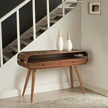 Marin Console Table In Walnut With Solid Ash