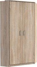 Marino Wooden Corner Wardrobe In Oak Effect With 2