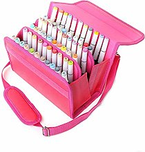 Markers 60 Slots Marker Pen Case PU Leather
