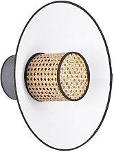 Market Set - Grey and white rattan wall lamp