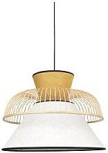 Market Set - Yellow and White Linen Pendant Lamp