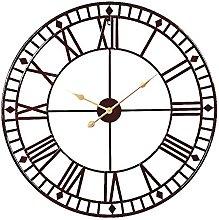 Markliu Roman Numeral Wall Clock Large Round Metal