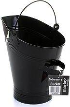 Marko Fireside Coal Bucket Black Fireside Logs
