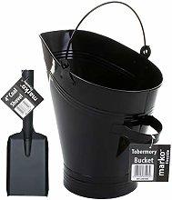 Marko Fireside Coal Bucket & Shovel Set Black