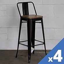 Marko Furniture Set of 4 Metal Industrial Bar